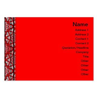 X Flames Grid Pack Of Chubby Business Cards