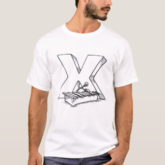 x for xylophone outline T-Shirt