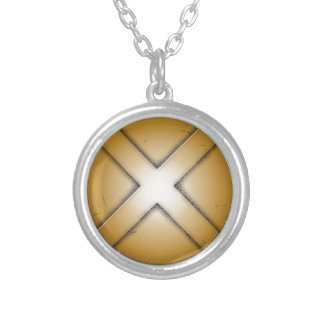 X initial letter personalized necklace