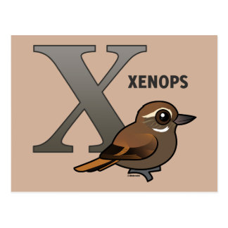 X is for Xenops Postcard