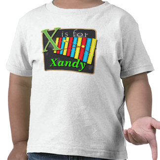 X Is For Xylophone X Is For Xandy T Shirts