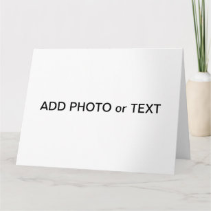 Cards zazzle ca x jumbo card photo or text create your own m4hsunfo