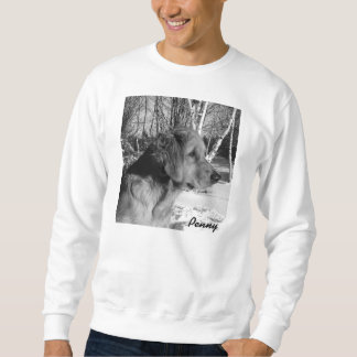 X-Large White Sweatshirt of Penny and Birch Trees