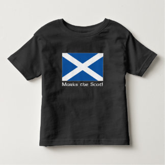 X Marks the Scot - Black Toddler T-shirt