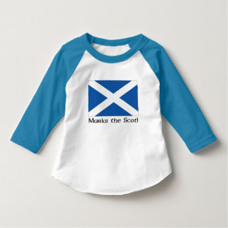X Marks the Scot - Blue Raglan T-Shirt