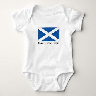 X Marks the Scot - White Baby Bodysuit