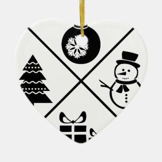 X-Mas Ceramic Heart Ornament