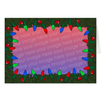 X-mas lights holiday card