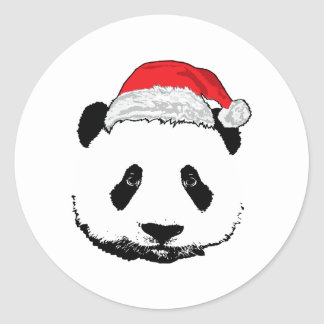 X-Mas panda Classic Round Sticker