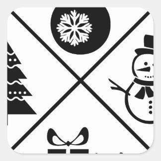 X-Mas Square Sticker
