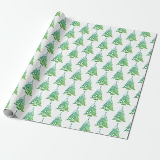 X-Mas Tree Wrapping Tree Wrapping Paper