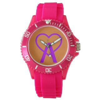 X&O Pink A~Heart Watch