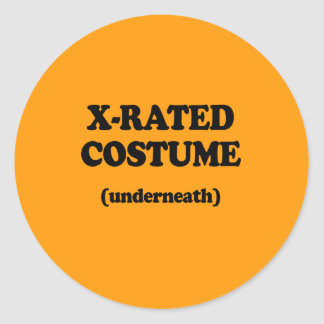X-RATED COSTUME - Halloween - png Round Sticker