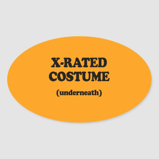 X-RATED COSTUME - Halloween -.png Sticker