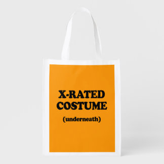 X-RATED COSTUME - Halloween - png Grocery Bag