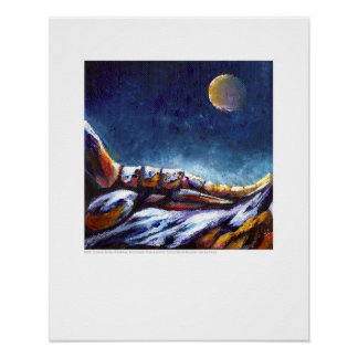 X-ray Cover - Foot of Moonlit Mountain - Rainey Poster