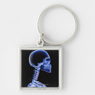 X-ray of the bones in the neck keychain