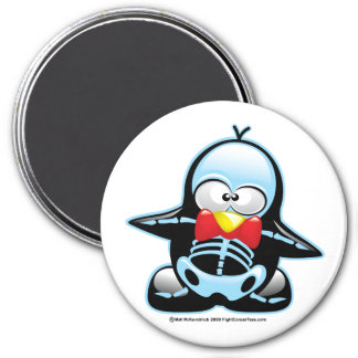 X-Ray Penguin 3 Inch Round Magnet