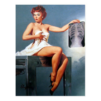 X-ray Pin Up Postcard