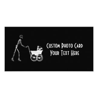 X-Ray Skeleton Mom & Baby - Original B&W Customized Photo Card