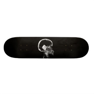 X-RAY SKELETON ON CELL PHONE BLACK & WHITE SKATE DECKS