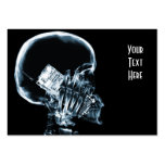 X-RAY SKELETON ON PHONE - BLUE BUSINESS CARD TEMPLATE