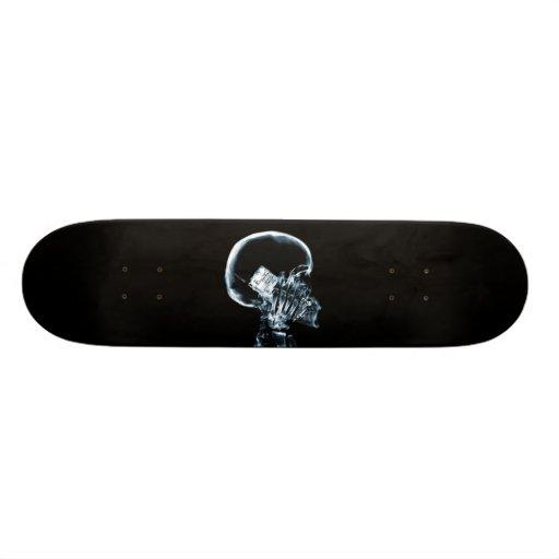 X-RAY SKELETON ON PHONE - BLUE SKATE BOARD