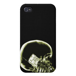 X-RAY SKELETON ON - YELLOW iPhone 4/4S COVER