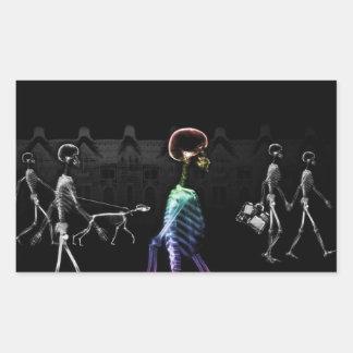 X-Ray Skeletons Midnight Stroll - B&W & Rainbow
