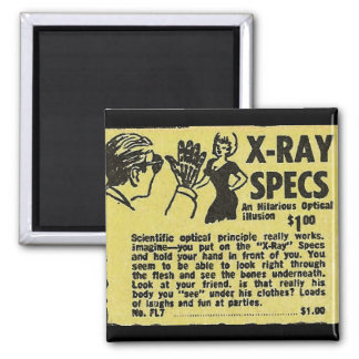 X-Ray Specs! See through clothes (kind of) Square Magnet