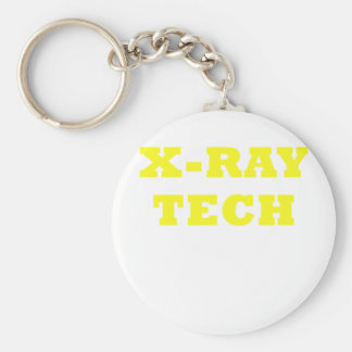 X-Ray Tech Basic Round Button Keychain