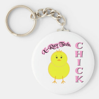 X-Ray Tech Chick Keychain