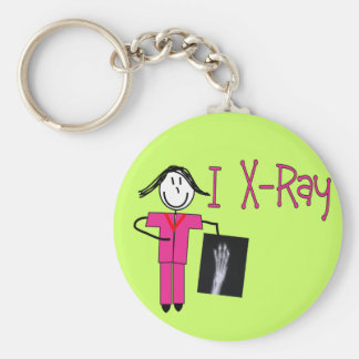 X-Ray Tech Gifts Basic Round Button Keychain