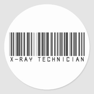 X-Ray Technician Bar Code Classic Round Sticker