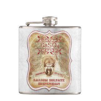 X ray vintage style skull barium BaSo4 Flask