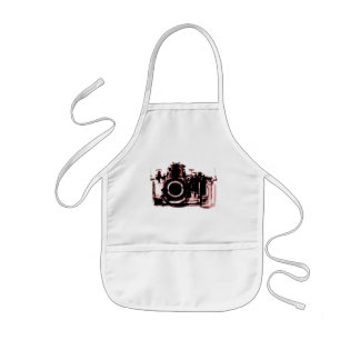 X-RAY VISION CAMERA BLACK RED KIDS APRON