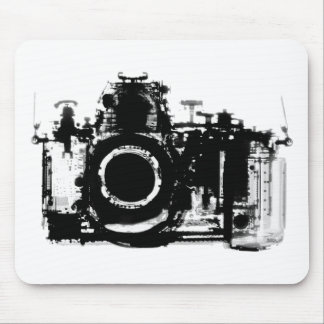 X-RAY VISION CAMERA BLACK & WHITE MOUSE PAD