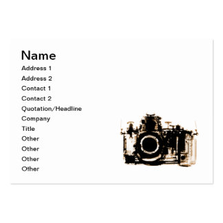 X-RAY VISION CAMERA - SEPIA LARGE BUSINESS CARD