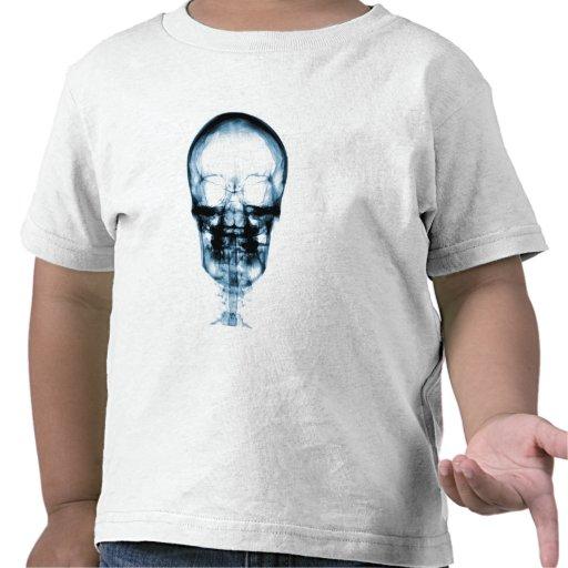 X-RAY VISION SKELETON SKULL - BLUE TEE SHIRT