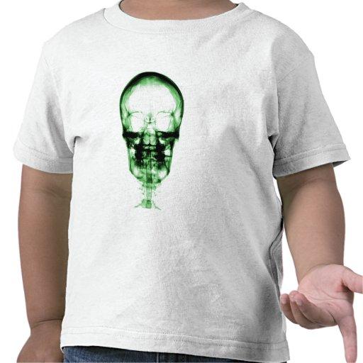 X-RAY VISION SKELETON SKULL - GREEN T SHIRTS