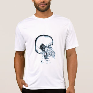 X-RAY VISION SKELETON SKULL ON PHONE - BLUE T-Shirt