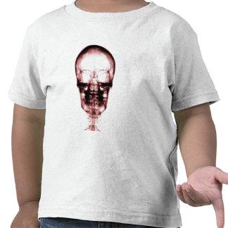 X-RAY VISION SKELETON SKULL - RED TEE SHIRT
