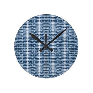 X-Ray Watercolor Shibori Stripe Clock