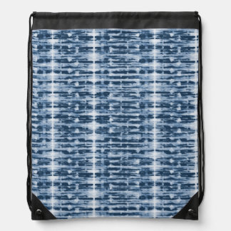 X-Ray Watercolor Shibori Stripe Drawstring Bag