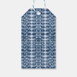 X-Ray Watercolor Shibori Stripe Gift Tag