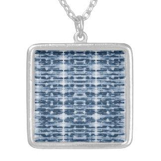 X-Ray Watercolor Shibori Stripe Pendant Necklace