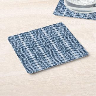 X-Ray Watercolor Shibori Stripe Square Paper Coaster