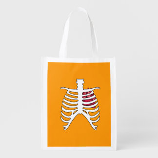 X-RAY WITH HEART - Halloween - png Market Totes