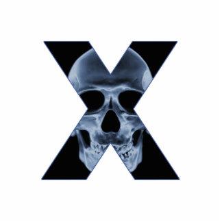 X-Skull Photo Sculpture Button