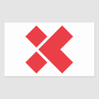 X Sticker, White/Red